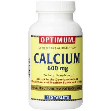 Optimum Calcium, 600 Mg, 180 Tablets, (Pack of 2)