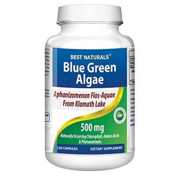 Best Naturals Klamath Blue Green Algae 500 mg 120 Capsules - 100% Money Back Guarantee - More Effective Than Spirulina or Chlorella