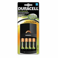 Duracell Value Charger with 4 AA StayCharged NiMH Batteries