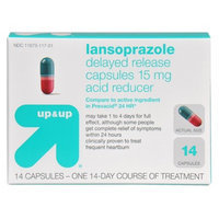 up & up up&up Lansoprazole Delayed Release Acid Reducer 15 mg Capsules - 14