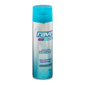 Rave 4X Mega Unscented Hairspray With ClimaShield
