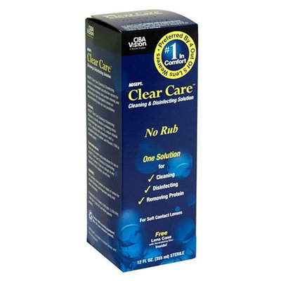 CIBA Vision Clear Care Cleaning & Disinfecting Solution, 12 fl oz (355 ml)