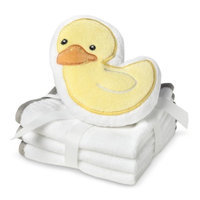 Circo Newborn 3 Pack Wascloth Set with Scrubbie - White/Yellow