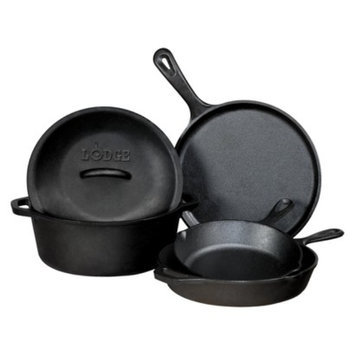 Lodge Logic Cast Iron Set - Black (5pc)
