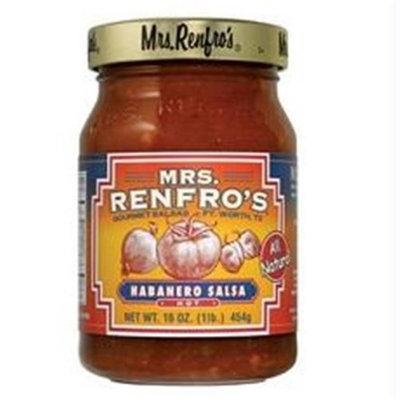 Mrs. Renfro's Mrs Renfros B44649 Mrs Renfros Hot Habanero Salsa -6x16oz
