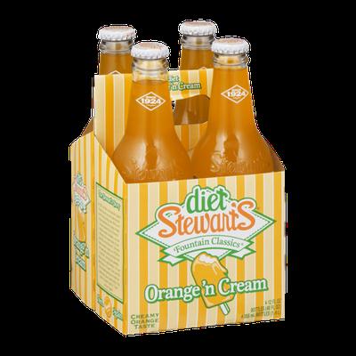 Diet Stewart's Fountain Classics Orange 'n Cream - 4 PK