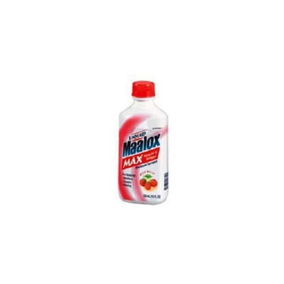 Maalox Advanced Maximum Strength Antacid/Anti-Gas Liquid, Wild Berry, 12-Ounce Bottles (Pack of 3)