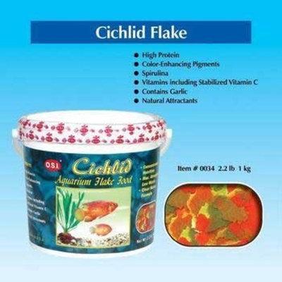 O.S.I. Ocean Star International Cichlid Flakes 2.2lb