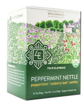 Four Elements Herbals - Organic Herbal Tea Peppermint Nettle - 16 Tea Bags