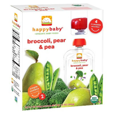 Happy Baby St2 Broc Pear Pea 3.5 oz 4 pk