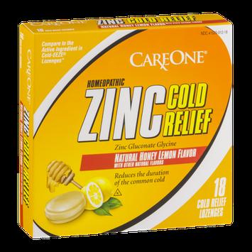 CareOne Zinc Cold Relief Lozenges Honey Lemon - 18 CT