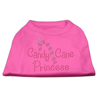 Mirage Pet Products 522504 XLBPK Candy Cane Princess Shirt Bright Pink XL 16