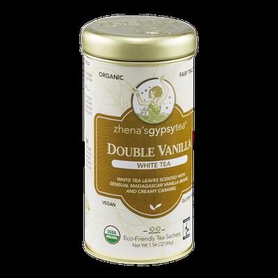 Zhena's Gypsy Tea White Tea Sachets Double Vanilla - 22 CT