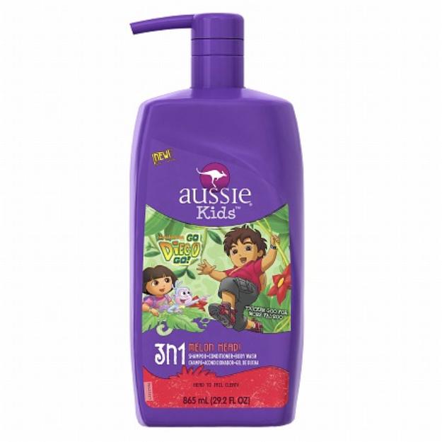 Aussie Kids 3n1 Shampoo + Conditioner & Bodywash, Melon Head, 29.2 fl oz