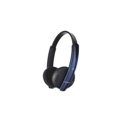 SONY  Over-The-Head Bluetooth(R) Headphones (Black with Blue Translucent Trim)