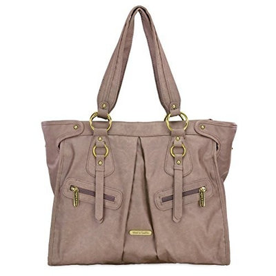 Timi And Leslie timi & leslie Dawn 7-Piece Diaper Bag Set, Taupe