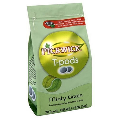 Senseo Pickwick T-Pods, Minty Green, 20-Count Bags (Pack of 6)