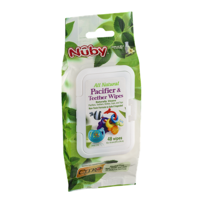 Nuby Pacifier & Teether Wipes - 48 CT