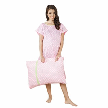 Baby Be Mine Molly Gownie Hospital Gown with Pillowcase, L/XL, 1 ea