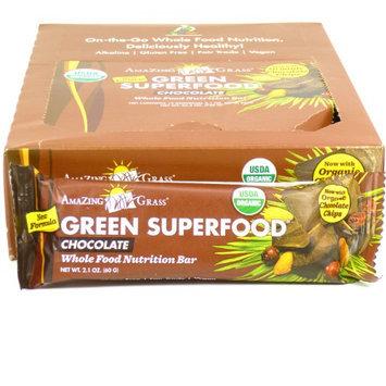 Amazing Grass - Green SuperFood Whole Food Energy Bar Chocolate - 2.1 oz.