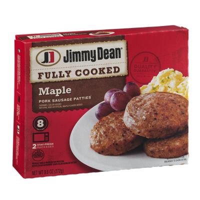 Jimmy Dean Fully Cooked Maple Pork Sausage Patties - 8 CT