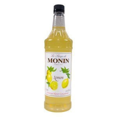 Monin Lemon Syrup, 33.8-Ounce Plastic Bottle (1 liter)