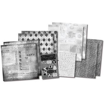 Karen Foster Design, Llc. Karen Foster Our Wedding Story Scrapbook Page Kit, 12