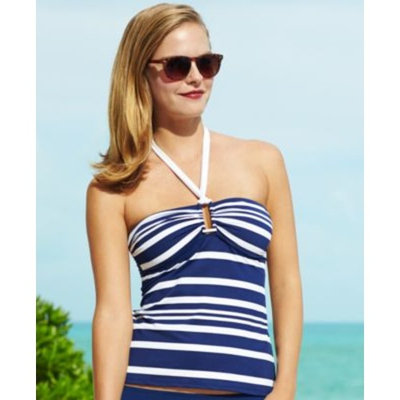 bathing suits Lauren Ralph Lauren Striped Tankini Top & Swim Brief Bottom