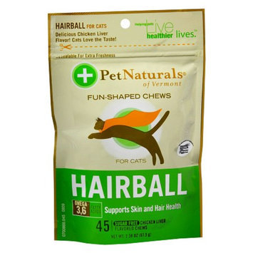 Pet Naturals Chicken Liver Hairball Fun-Shaped Chews for Cats