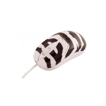 Urban Factory CM16UF Crazy Mouse Zebra - Mouse - optical - 3 buttons - wired - USB