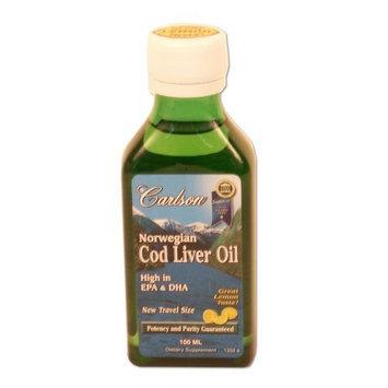 Carlson Labs Norwegian Natural Vitamin E Cod Liver Oil, Lemon, 100ml