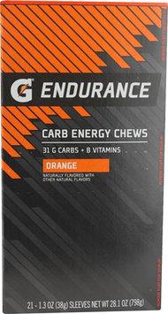 Gatorade G Endurance Carb Energy Chews Orange 21 Chewables