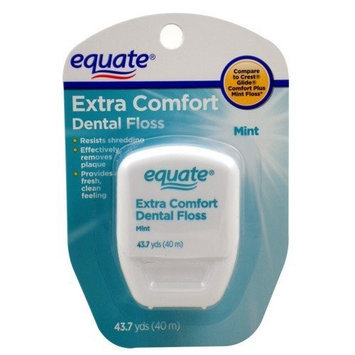 Equate - Extra Comfort Dental Floss - Mint, 43.7 Yards