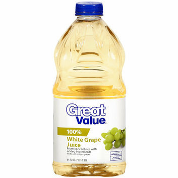 Great Value : 100% White Grape Juice