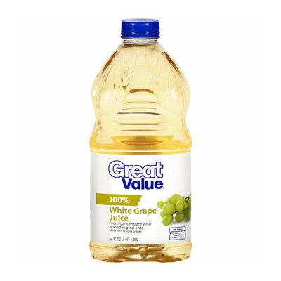 Great Value : 100% White Grape Juice