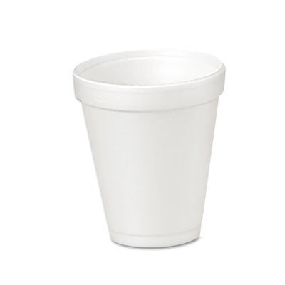 Dart Drink Foam Cups, 4oz, 25/Bag, 40 Bags/Carton
