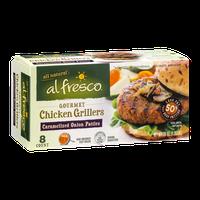 Al Fresco Gourmet Chicken Grillers Patties Caramelized Onion - 8 CT