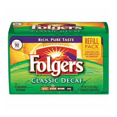 Folgers Classic Decaf Medium Ground Coffee Refill Pack