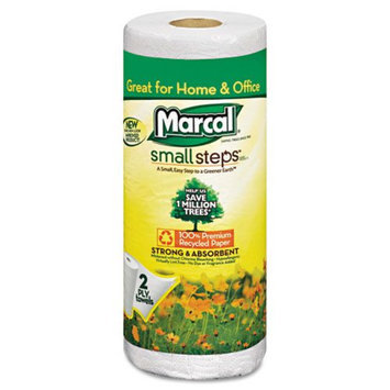 Marcal Paper Towel, 9 x 11, White, 70 Sheets/Roll 15/Ctn