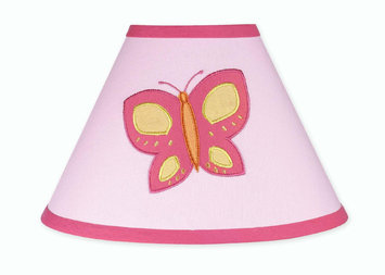 Jojo Designs JoJo Designs Butterfly Pink Orange Lamp Shade