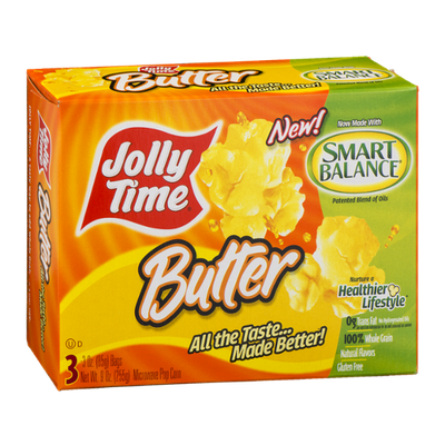 Jolly Time Butter Microwave Pop Corn - 3 CT