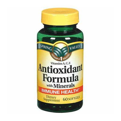 Spring Valley : Antioxidant Formula w/Minerals Softgels Dietary Supplement