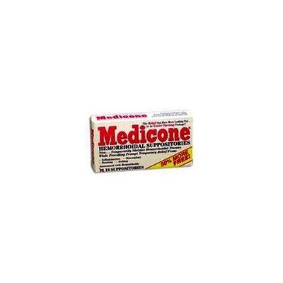 Rectal Medicone Hemorrhoidal Suppositories - 12 Ea