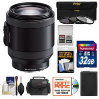 Sony Alpha E-Mount 18-200mm f/3.5-6.3 OSS PZ Lens with 32GB Card + NP-FW50 Battery + Case + 3 Filters + Kit for A7, A7R, A7S, A3000, A5000, A5100, A6000 Cameras