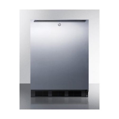 Summit AL752LBLSSHH 5.5 cu. ft. Freestanding All Refrigerator with Automatic Defrost, Front Lock and Horizontal Handle