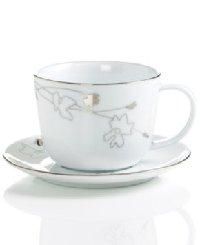 Charter Club Dinnerware, Grand Buffet Platinum Silhouette Round Cup and Saucer