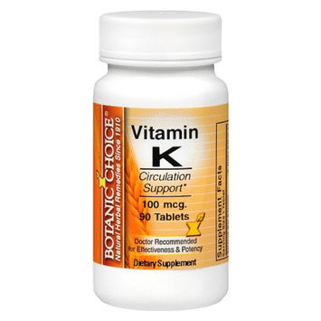 Botanic Choice Vitamin K 100 mcg Dietary Supplement Tablets