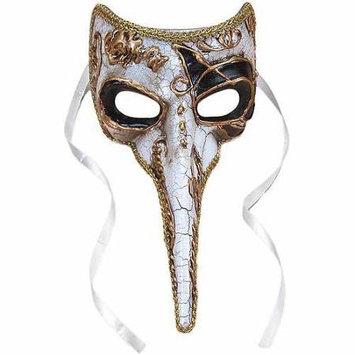 Loftus 196204 Long-Nosed Black & White Venetian Adult Mask