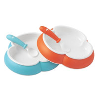 Baby Bjorn BABYBJÖRN 2pk Plate and Spoon Set - Orange/Turquoise