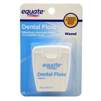 Equate - Dental Floss - Waxed, 55 Yards
